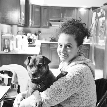 The blogger and her dog, Penny