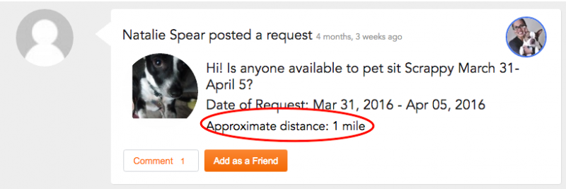 Approximate distance is provided